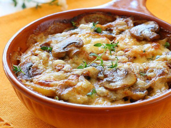 Kartoffel-Pilz-Auflauf