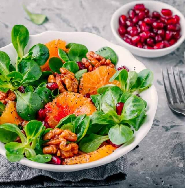 Salat mit Mohn Vinaigrette