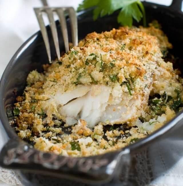 Fischfilet mit Kräuterkruste