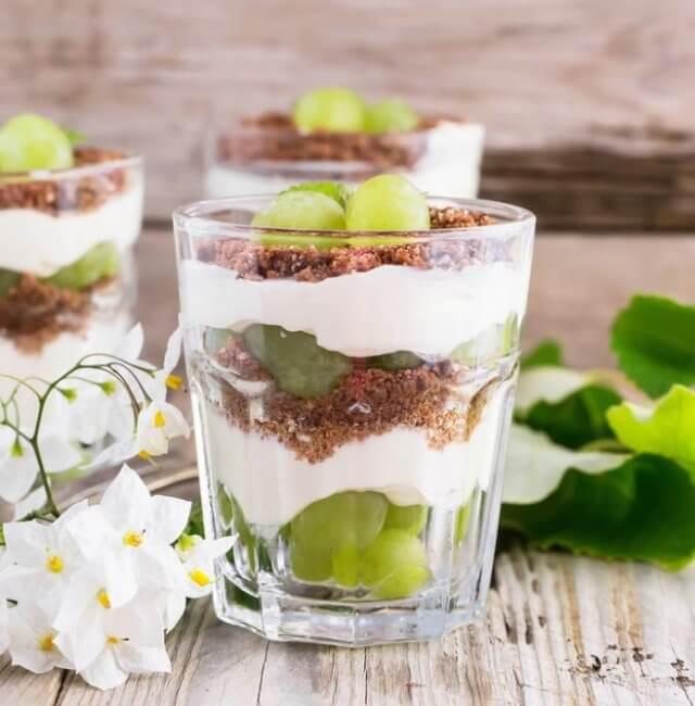 Weintrauben Dessert