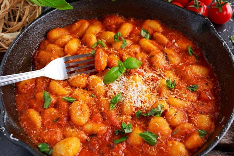 Gnocchi in Tomatensauce_
