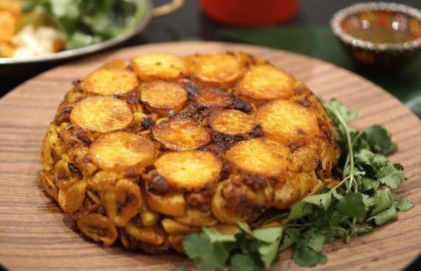 Nudelkuchen mit Kartoffel-Kruste