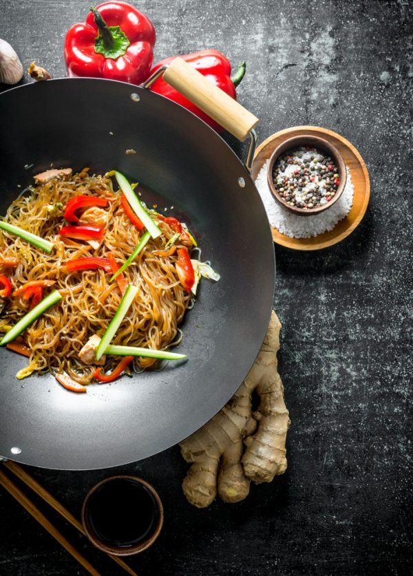 Wokgemüse mit Glasnudeln