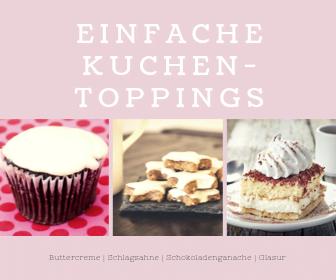 Einfache Kuchen-Toppings