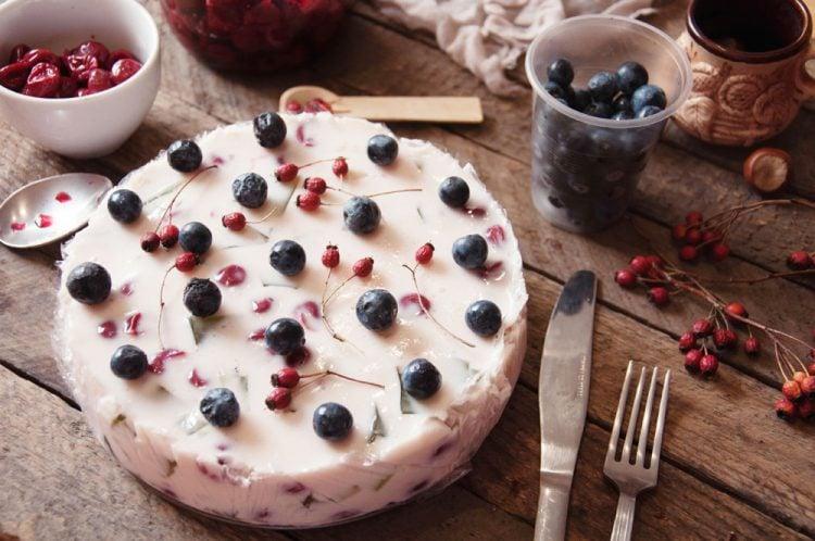 Erbeer-Joghurt Torte ohne Zucker