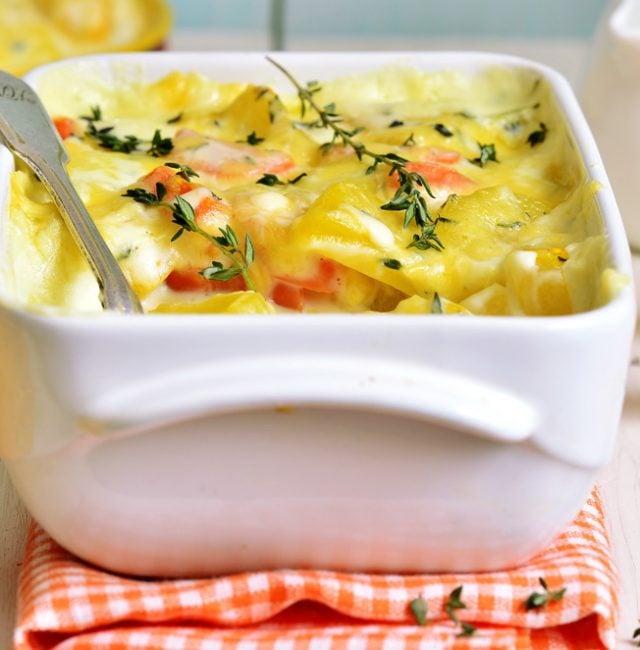 Kartoffel-Kürbis-Gratin