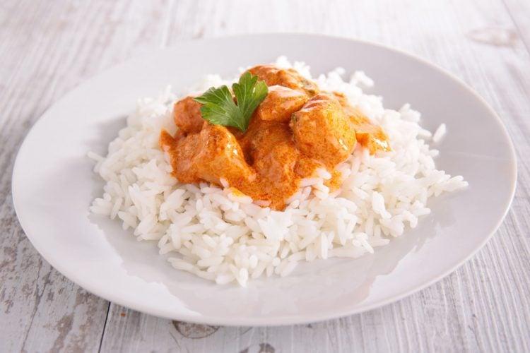 Low Fat Currypfanne mit Hähnchen
