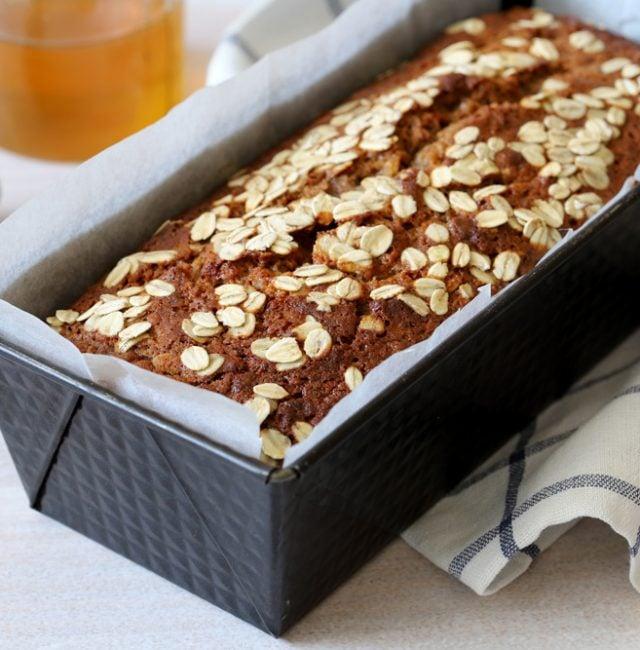 Zuckerfreier Walnuss-Haferflocken Kuchen