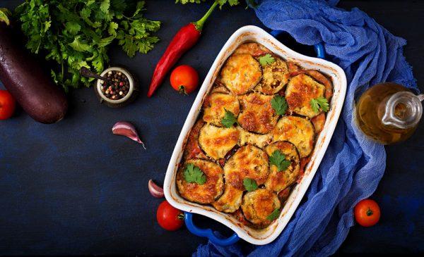 Auberginen-Auflauf mit Mozzarella