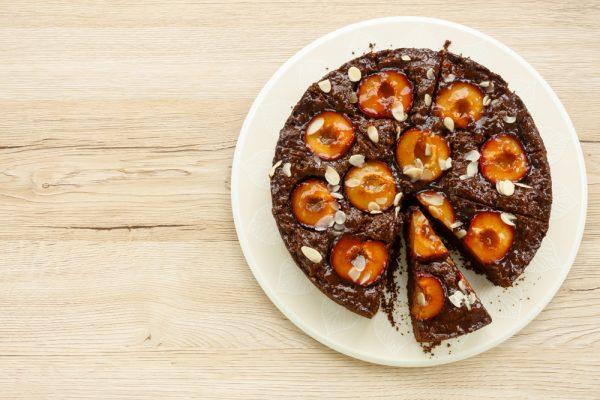 Schokoladenkuchen aus Backpflaumen