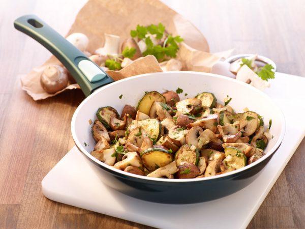 Pilzpfanne mit Zucchini
