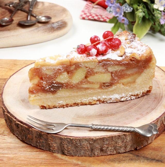 Gedeckter Apfelkuchen für Diabetiker