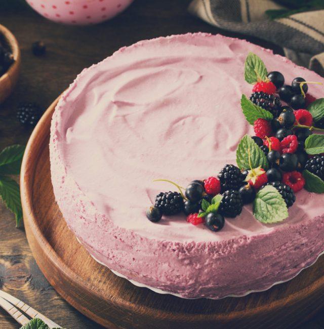Himbeer-Joghurt-Torte für Diabetiker