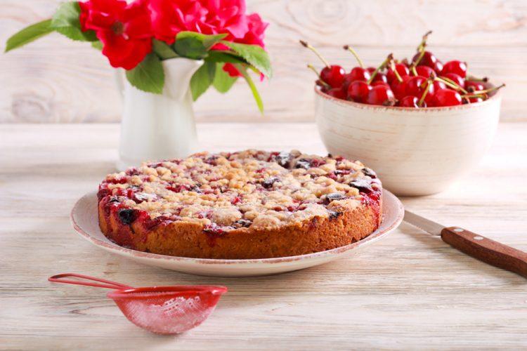 Quark-Streuselkuchen mit Obst