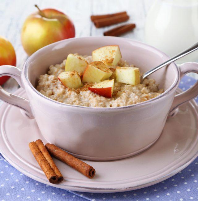 Apfelkuchen-Porridge