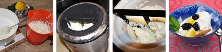 Joghurt-Eis steppbilder